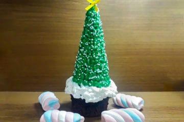 Cupcake Árvore de Natal