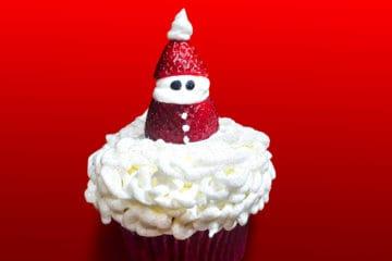 Cupcake de Papai Noel