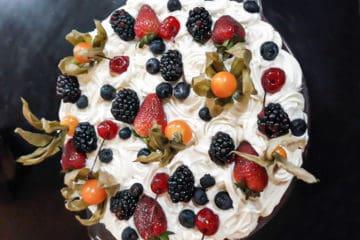 Torta Natalina de Frutas Vermelhas