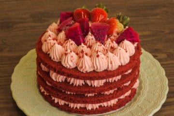 Naked Cake Red