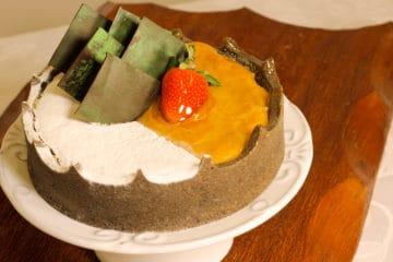 Torta de Milho com Ricota e Canela